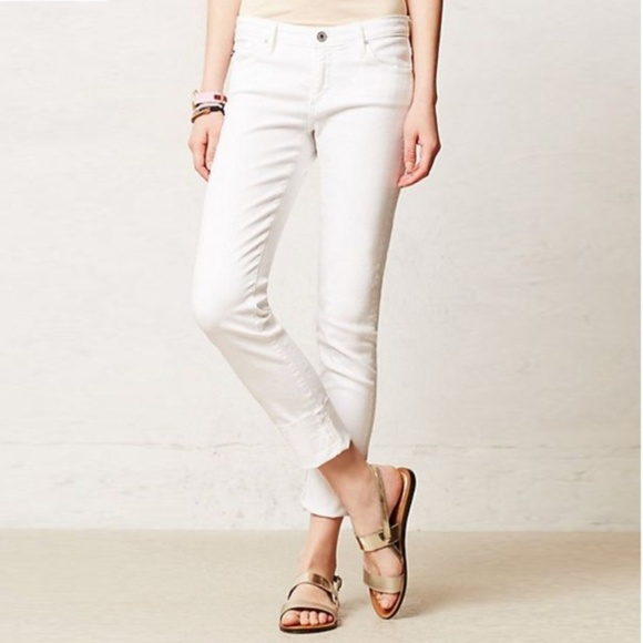 Ag Adriano Goldschmied Denim - Ag Adriano Goldschmied White Jeans Stevie ankle 30